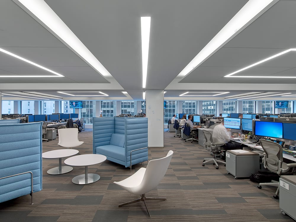 Lightplane 3.5 Recessed (LP3.5R); Blue Mountain Capital NYC — TPG Architecture (Architects), One Lux Studio (Lighting Design), Stan Deutch Associates (Lighting Reps), Eric Laignel (Photography)