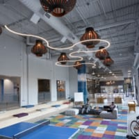 MoonRing (LP1/MR1) Configuration, BoomTown headquarters, Charleston, SC – LS3P Associates (architect), The Lighting Source (lighting rep), © High 5 Productions (photographer)